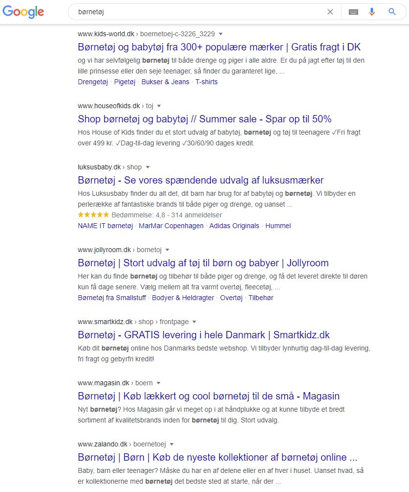 googles søgemaskine til konkurrentanalyse