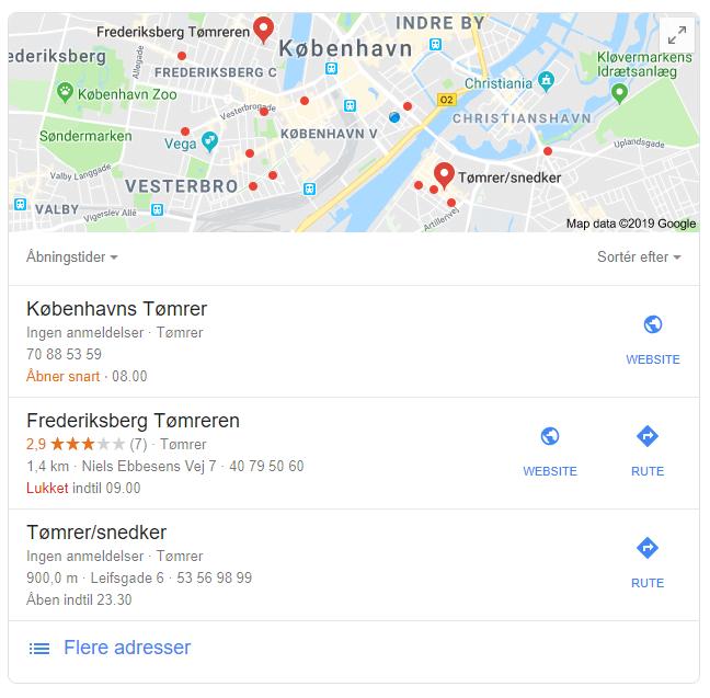 google søgeresultat for tømrer